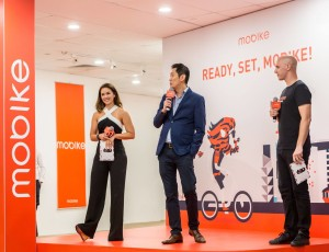 Hosting Mobike SG launch